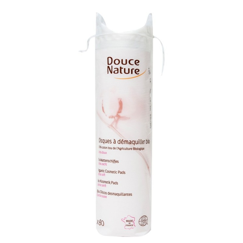Dischete demachiante din bumbac organic (80buc), Douce Nature