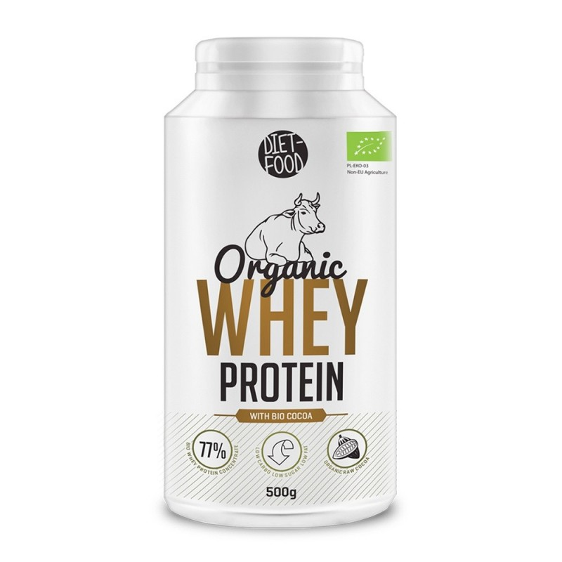 Bio Proteina din zer+cacao+stevia (500g), Diet-Food