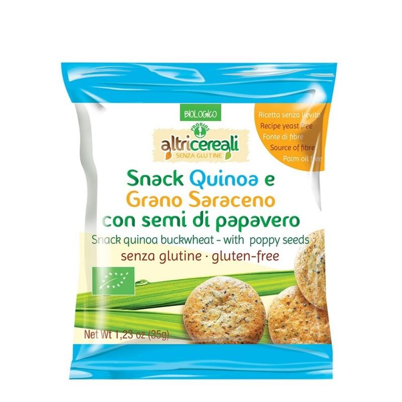 Snack din quinoa si hrisca cu seminte de mac (35g), Probios