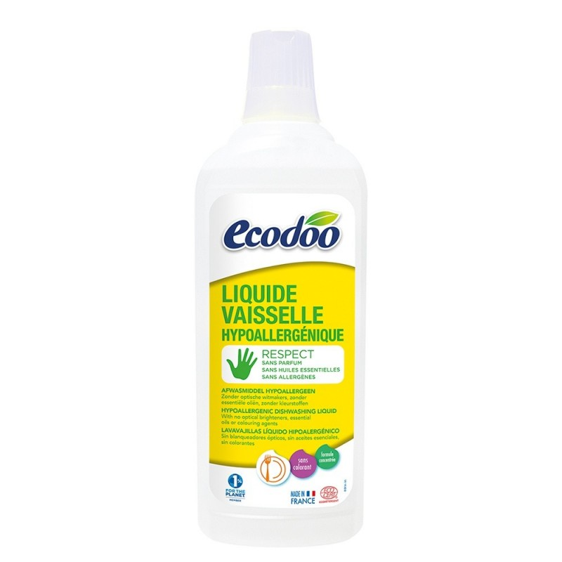 Detergent lichid pentru vase hipoalergenic (750ml), Ecodoo