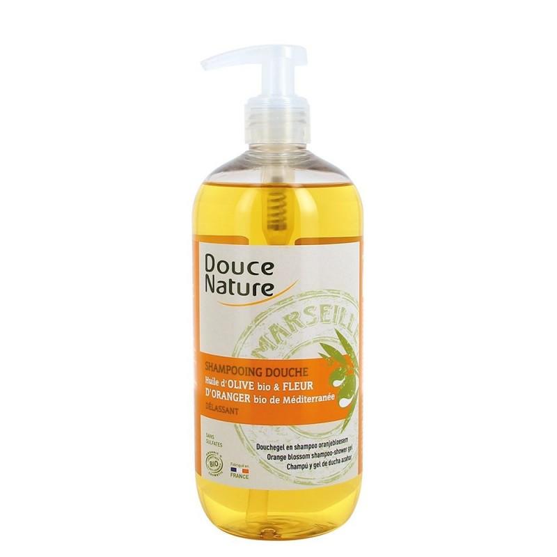 Sampon dus cu sapun de Marsilia si flori de portocal (500ml), Douce Nature