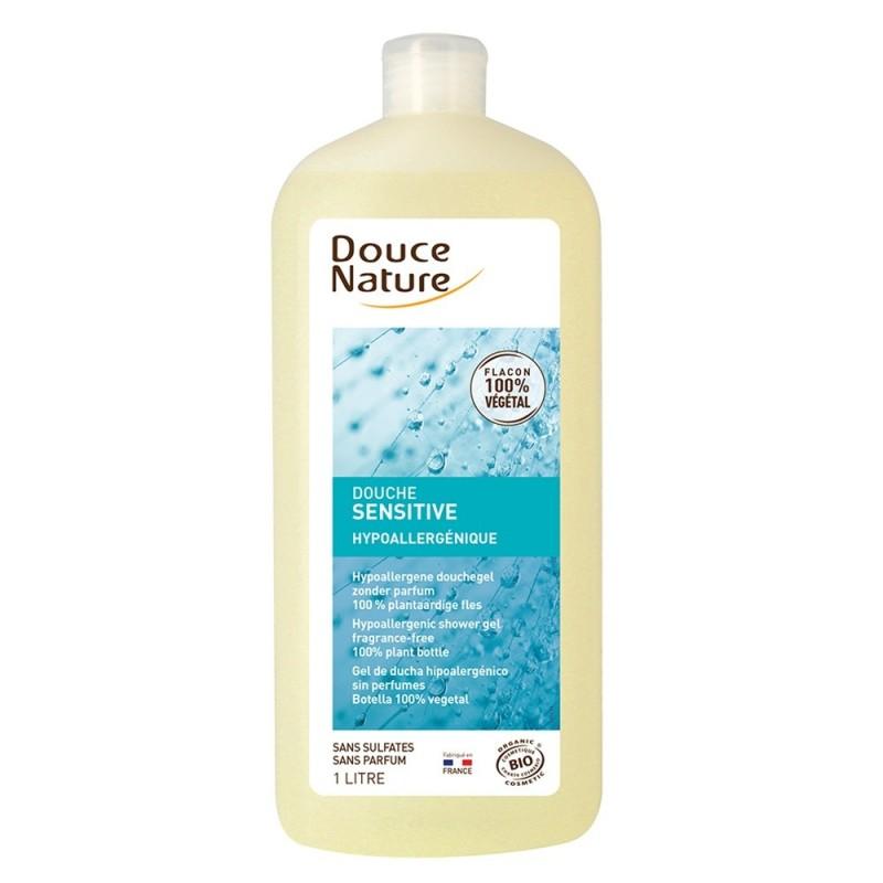 Gel de dus bio hipoalergenic fara parfum, fara sulfati (1L), Douce Nature