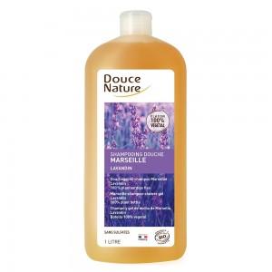 Sampon dus de Marsilia cu aroma de lavanda fara sulfati (1L), Douce Nature