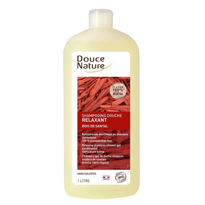 Sampon dus relaxant cu santal fara sulfati (1L), Douce Nature