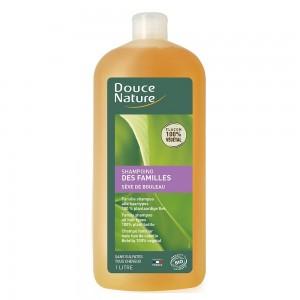 Sampon orice tip de par cu seva de mesteacan, fara sulfati (1L), Douce Nature