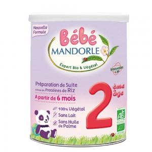 Formula 2 Lapte praf vegetal pentru bebelusi - de la 6 luni (800g), Bebe Mandorle