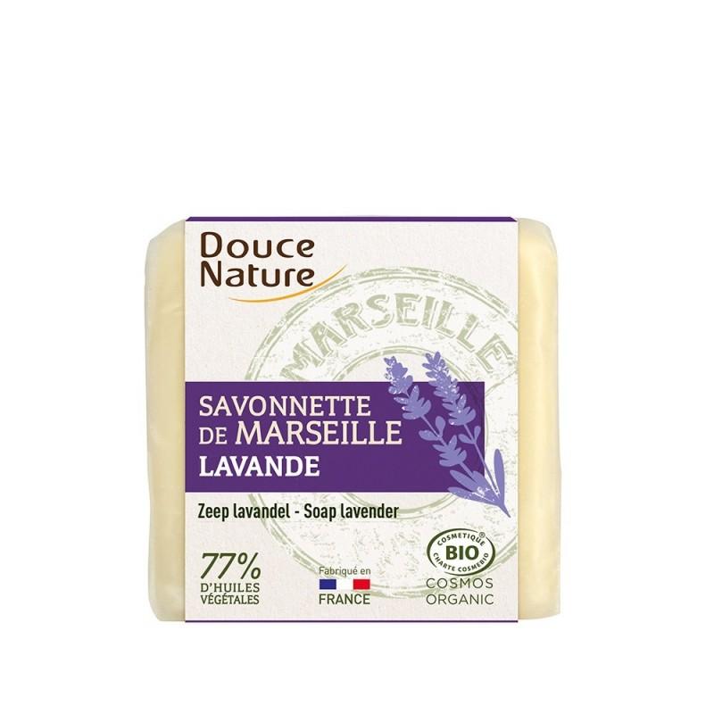 Sapun bio de Marsilia cu lavanda (100g), Douce Nature