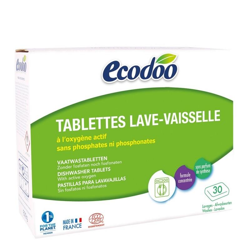 Tablete pentru masina de spalat vase - (30x20g), Ecodoo