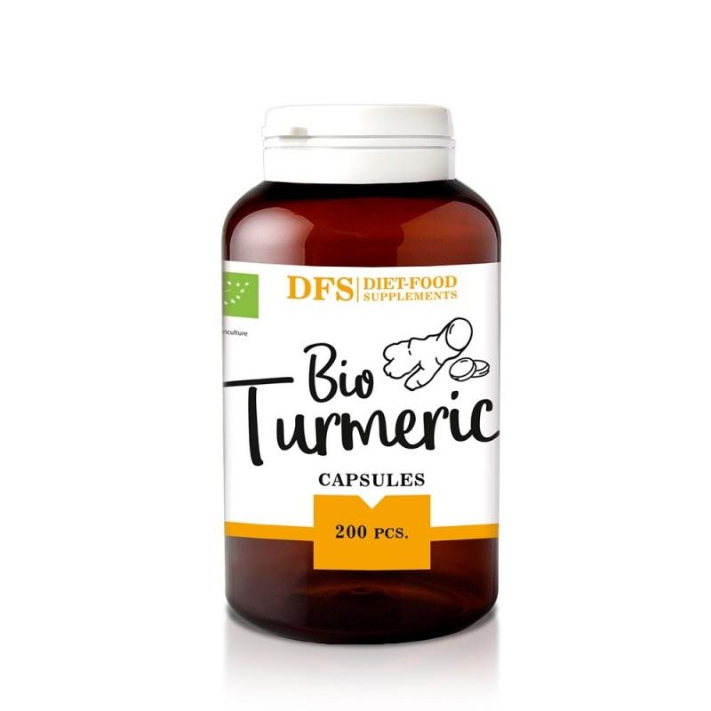 Bio Turmeric - 200 capsule x 400mg - (80g), Diet-Food