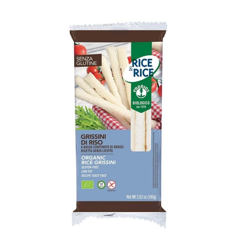 Grisine din orez - fara gluten (100g), Probios