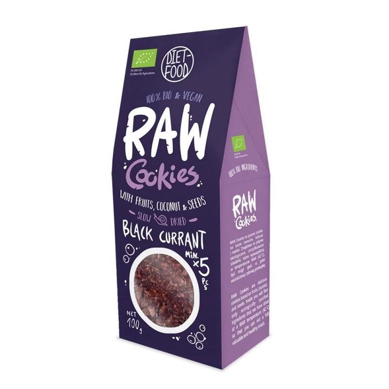 Fursecuri raw vegane cu coacaze negre (100g), Diet-Food