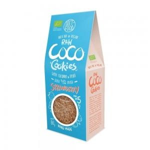 Fursecuri raw vegane cu cocos si capsuni (80g), Diet-Food