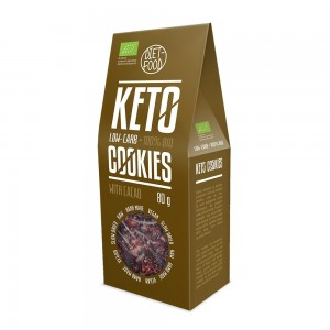 Fursecuri keto raw vegane cu cacao (80g), Diet-Food