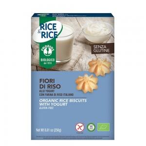 Biscuiti fara gluten FIORI DI RISO cu iaurt (250g), Probios