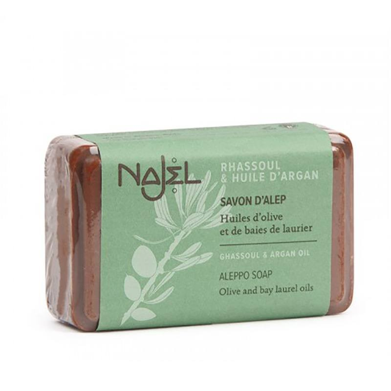 Sapun de Alep Najel cu ulei de argan si argila rhassoul - (100g), Najel