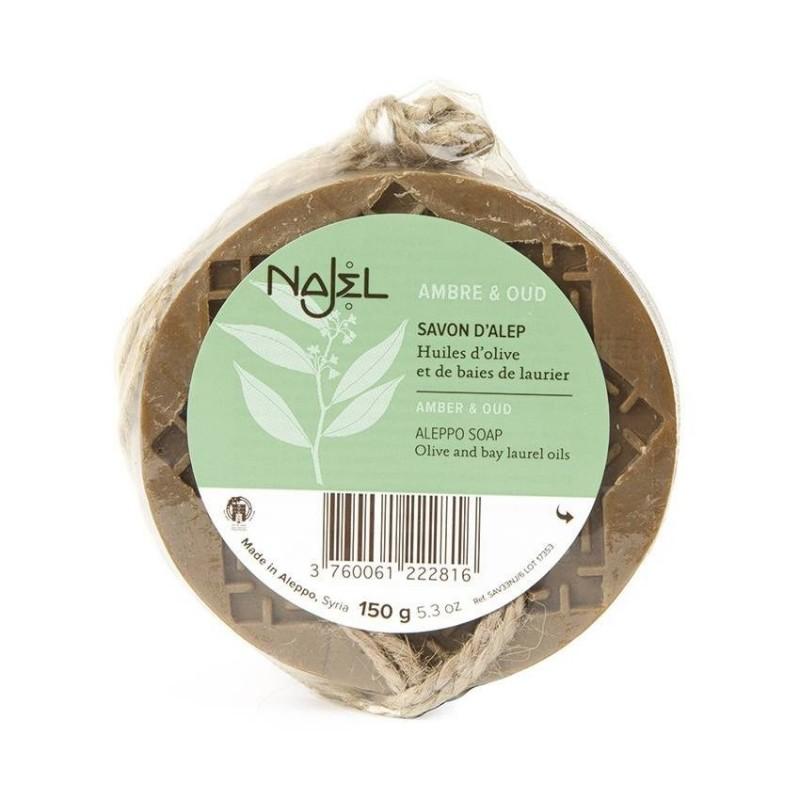 Sapun de Alep Najel cu ambra si lemn de agar (oud) - (150g), Najel