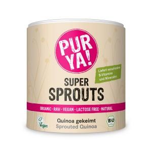 Quinoa germinata raw bio, Pur Ya! Super Sprouts (220 grame), Pur Ya!