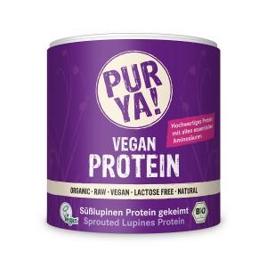 Proteina vegana din seminte de lupin germinate raw bio (200 grame), Pur Ya!