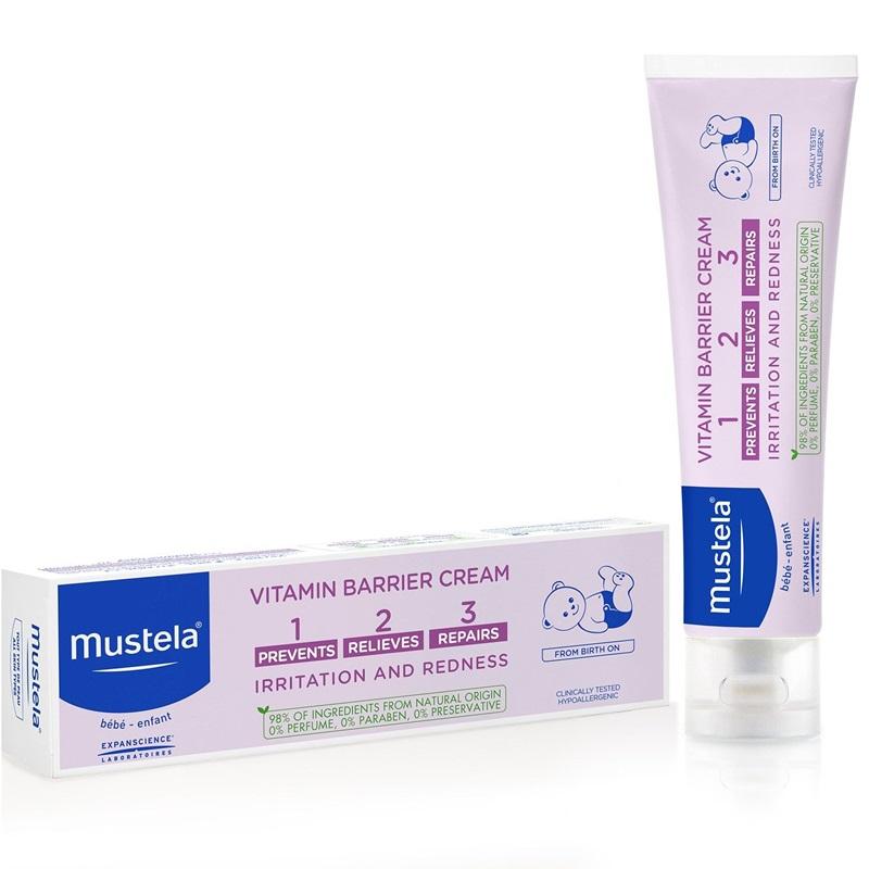 Vitamin barrier 123 - crema pentru schimbatul scutecului (100ml), Mustela