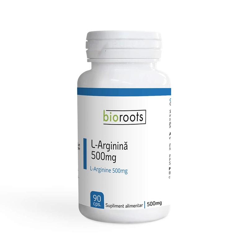 L-Arginina 500mg (90 capsule), Bioroots