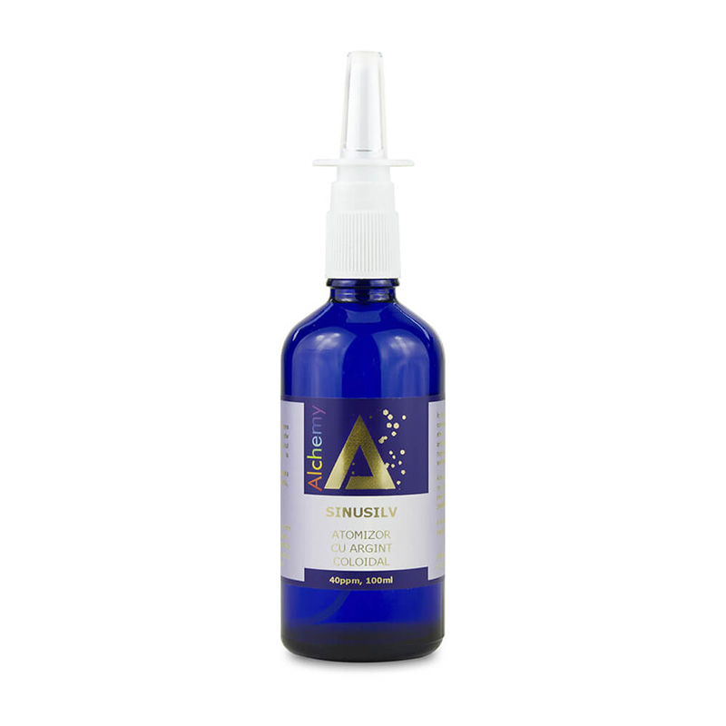 SinuSilv Atomizor nazal cu argint coloidal 40ppm (100 ml), Pure Alchemy