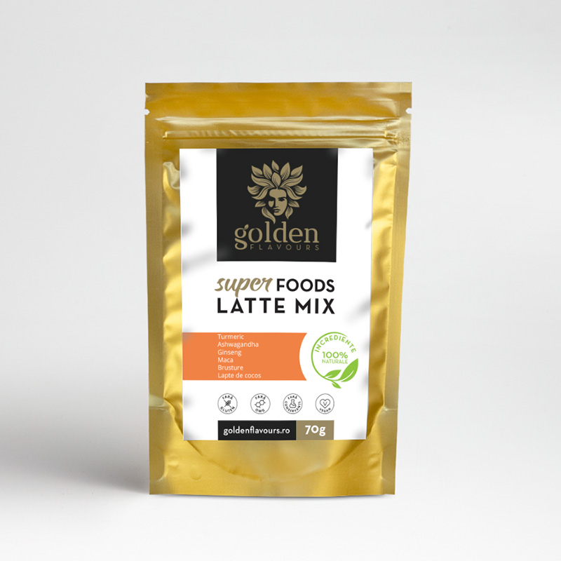 Superfoods Latte Mix (70 grame), Golden Flavours