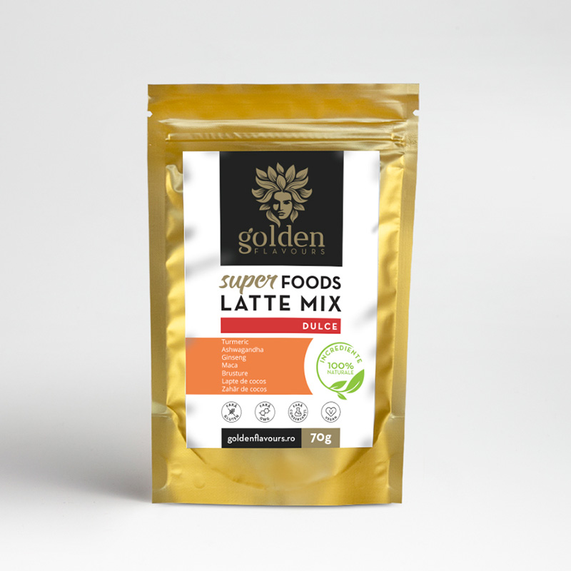 Superfoods Latte Mix Dulce (70 grame), Golden Flavours