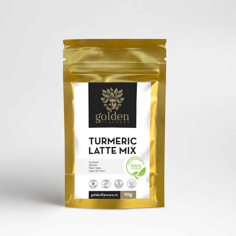 Turmeric Latte Mix Pachet 5 bucati + 1 gratis (10 grame), Golden Flavours