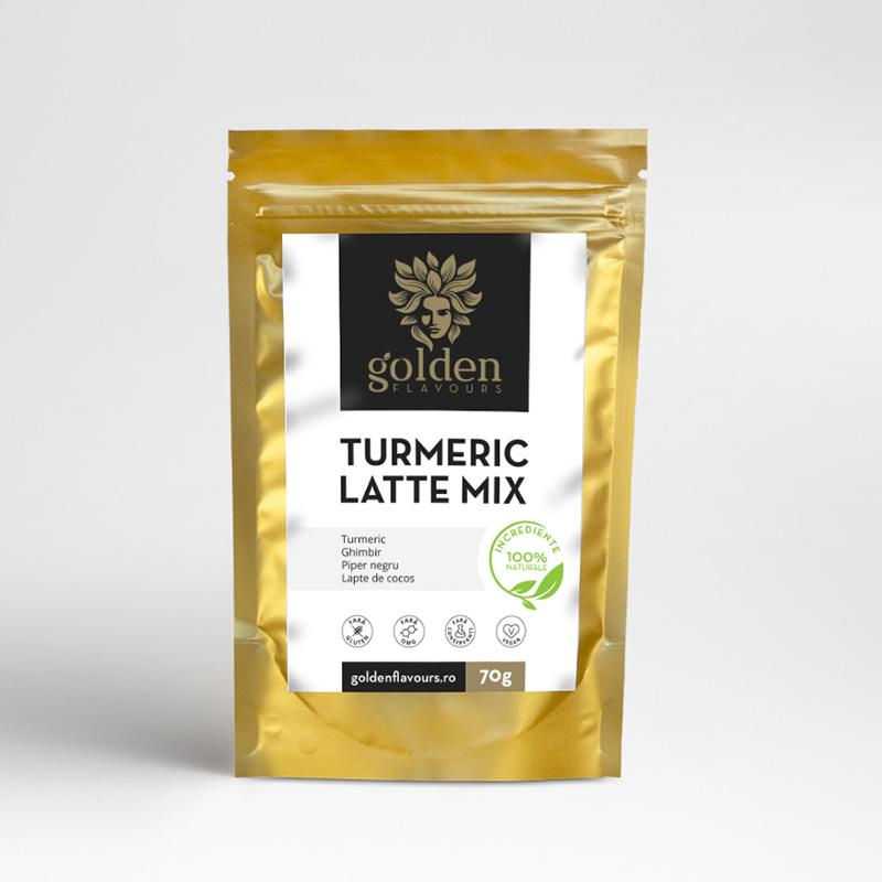 Turmeric Latte Mix Pachet 3 bucati + 1 gratis (70 grame), Golden Flavours