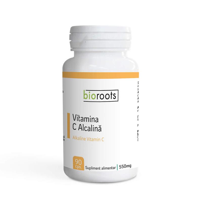 Vitamina C Alcalina 700mg (90 capsule), Bioroots