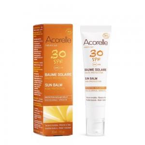 Balsam protectie solara fata cu ulei de Karanja SPF 30 (30 ml), Acorelle