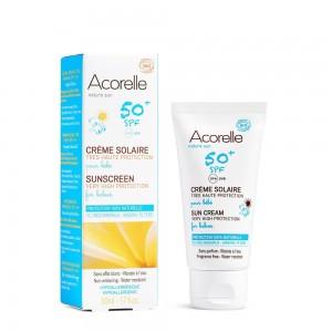 Crema bio protectie solara bebe SPF 50 (50 ml), Acorelle