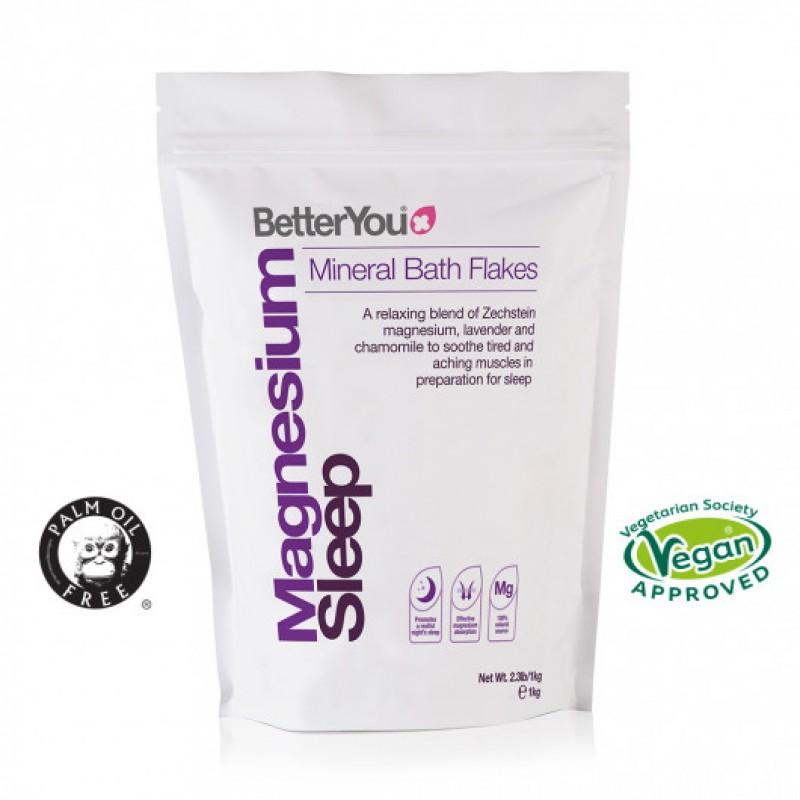 Fulgi de baie cu magneziu pentru somn odihnitor, (1000 grame), BETTERYOU