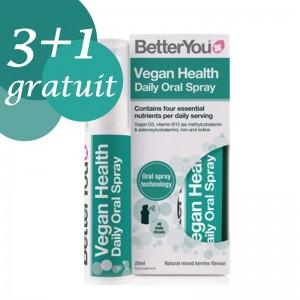 Promo 3+1 Gratuit Vegan Health Oral Spray (25ml), BetterYou