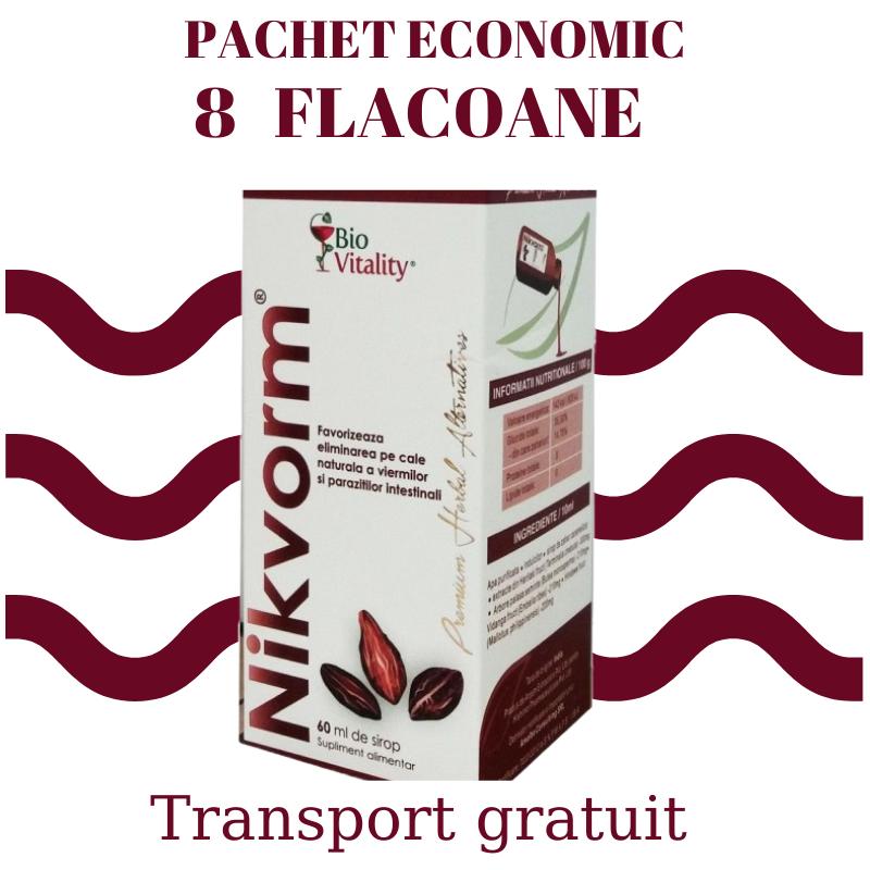 Nikvorm Sirop - Packet Economic 8 flacoane