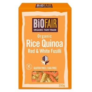 Fusilli din orez si quinoa rosie si alba bio (250 grame)