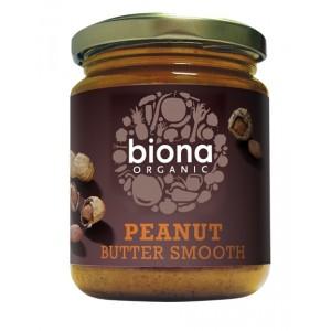 Unt de arahide smooth fara sare bio (250 grame), Biona