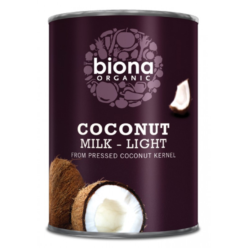 Lapte de cocos light bio (400 ml), Biona