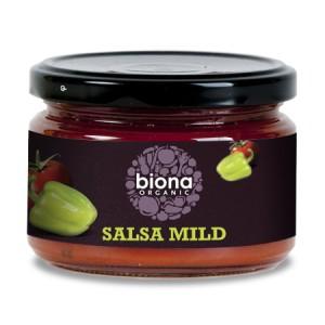 Sos salsa dip mediu picant bio (220 grame), Biona
