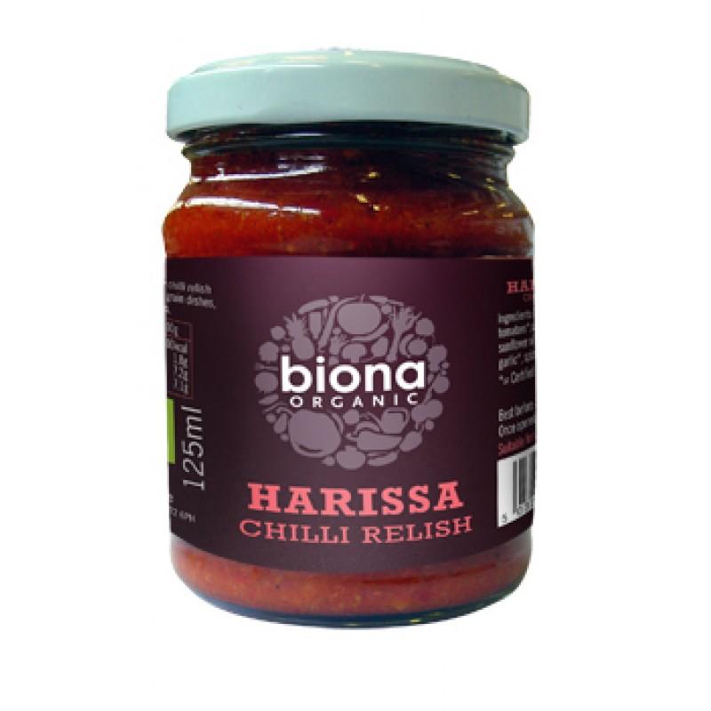 Sos chilli Harissa bio (125 ml), Biona