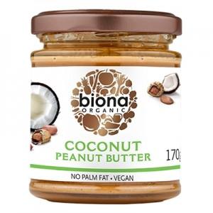 Unt de arahide cu cocos bio (170 grame), Biona