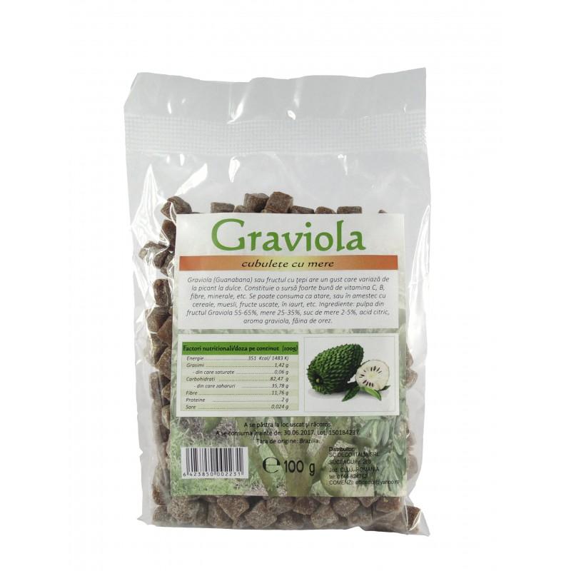 Graviola pulpa si mar cuburi (100 grame), Deco Italia