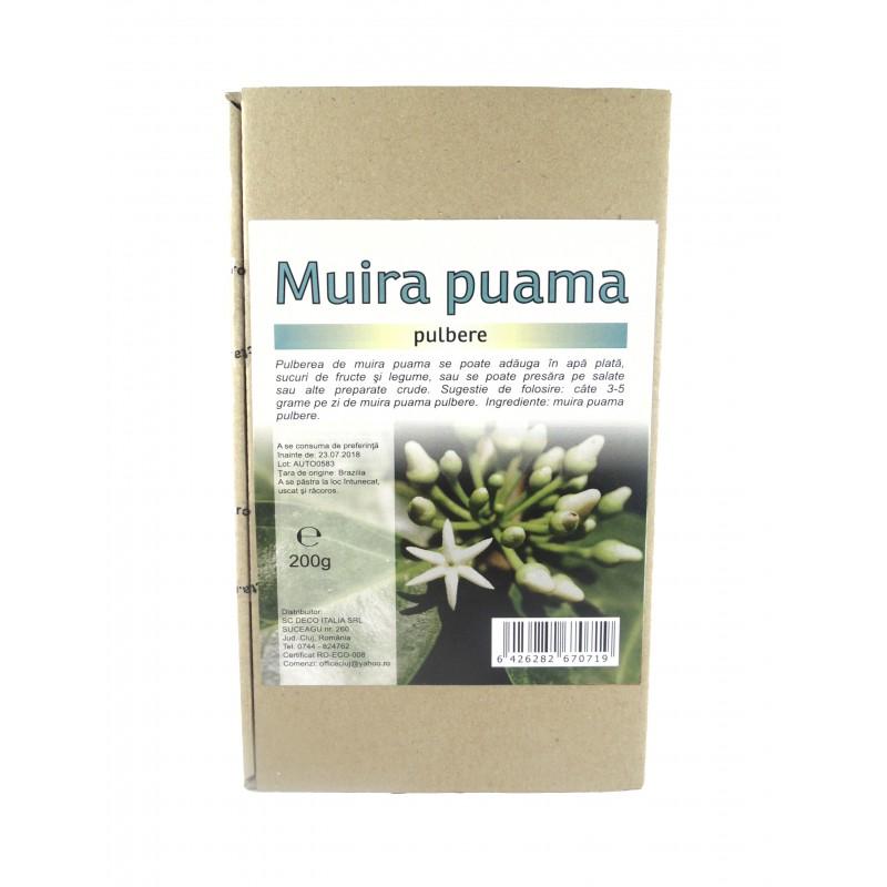 Muira puama pulbere (200 grame), Deco Italia