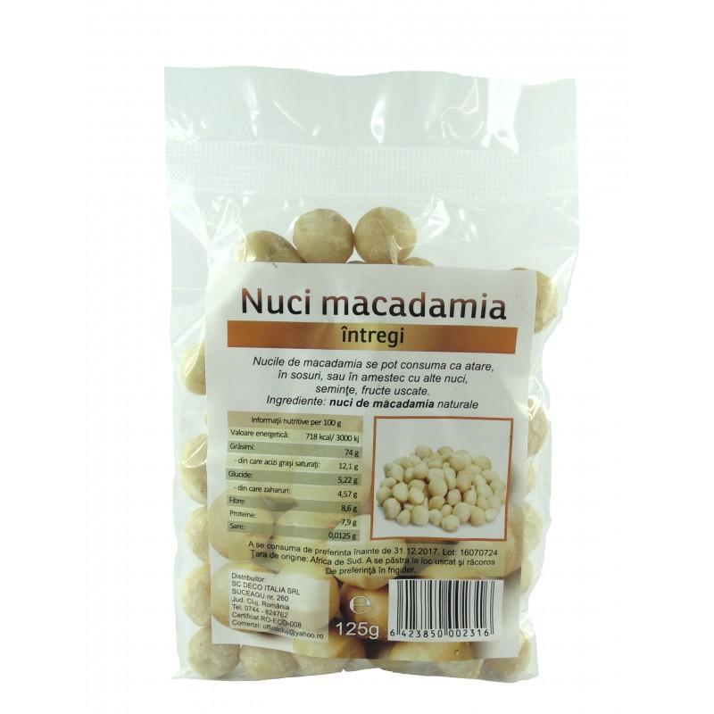 Nuci Macadamia Bio (125 grame), Deco Italia