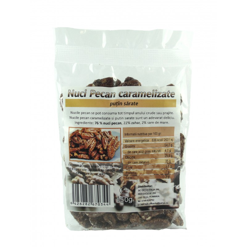 Nuci pecan caramelizate (150 grame), Deco Italia