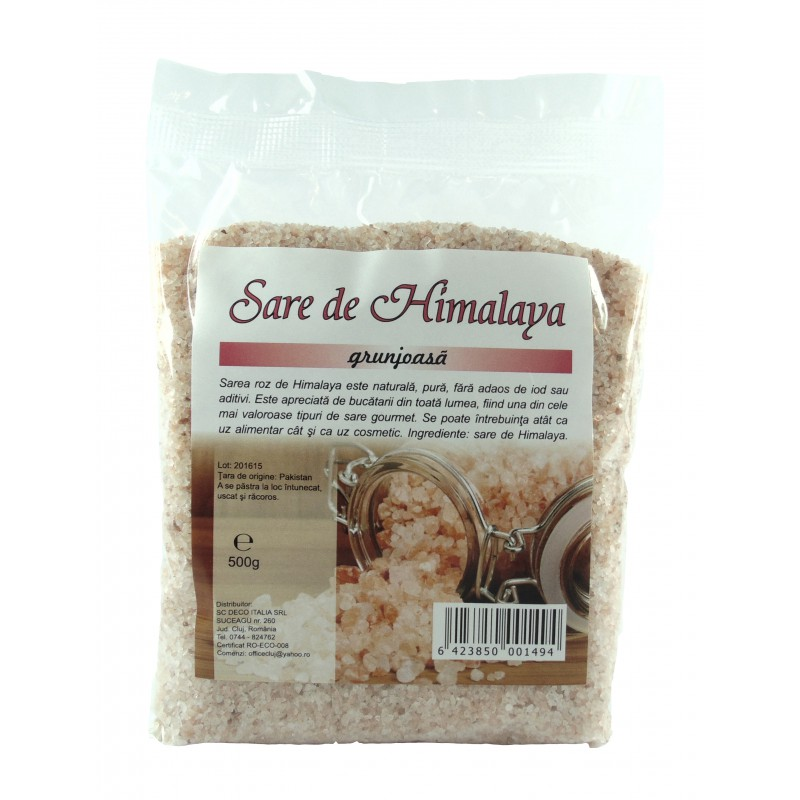 Sare Himalaya de masa grunjoasa (500 grame), Deco Italia