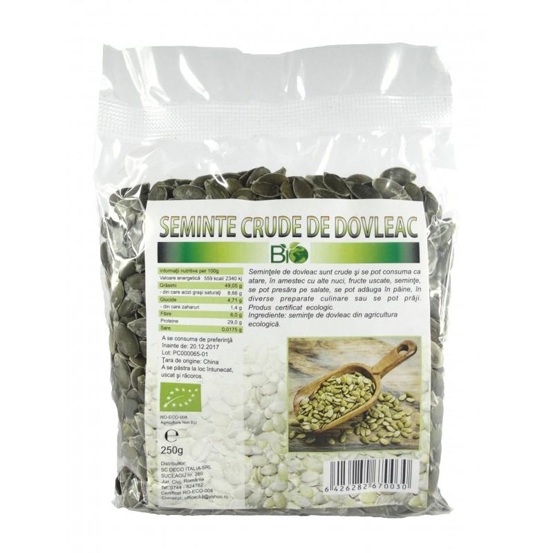 Seminte de dovleac RAW (250 grame), Deco Italia