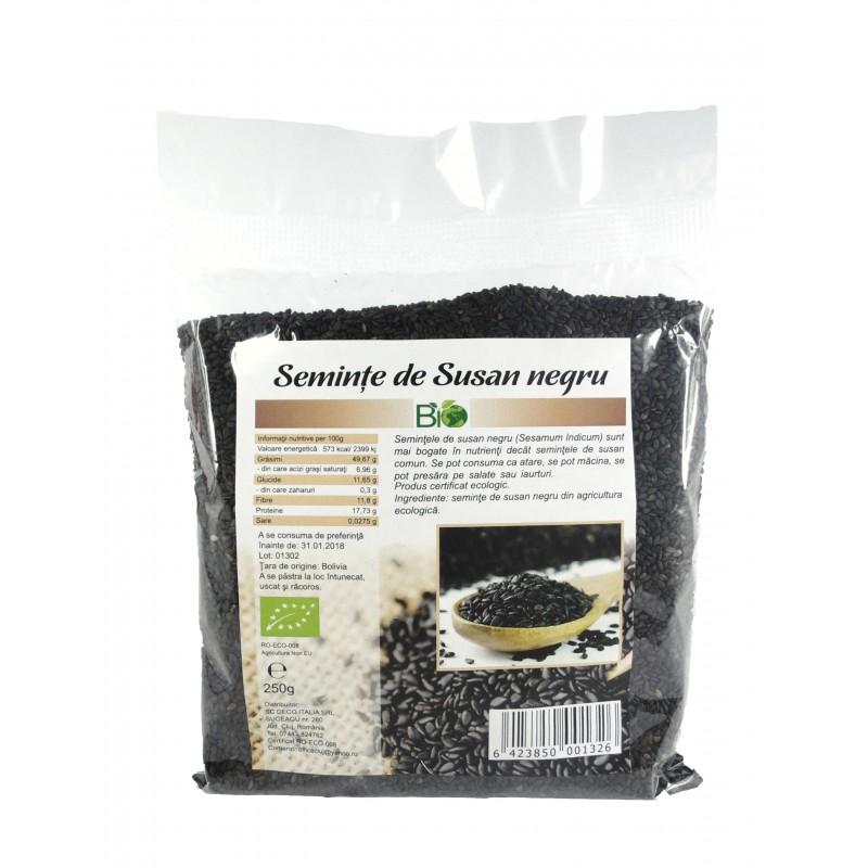 Seminte de susan negru bio (250 grame), Deco Italia
