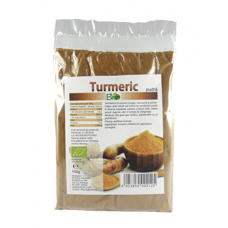 Turmeric pudra (130 grame), Deco Italia
