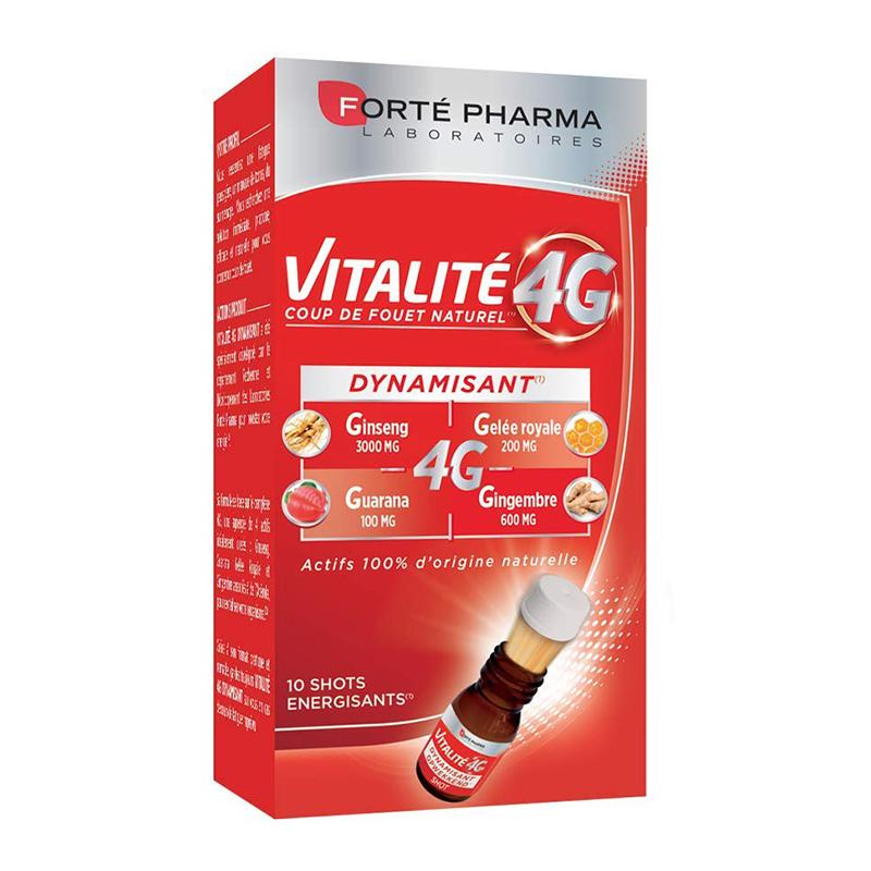 Vitalite 4G Dynamisant (10 shoturi), Forte Pharma